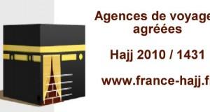 hajj 2012 : Agences de voyages françaises agréées par le Ministère saoudien du Pèlerinage